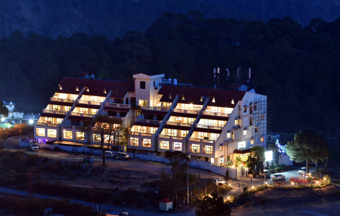 Dynasty resort nainital hotel night view